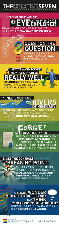 Our Principles On Creativity. 7 Bitterly learned aspects of what keeps us creative - if we can live up to them.
