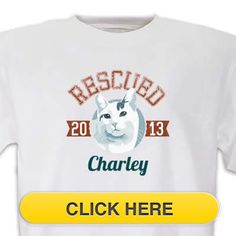 Check our Rescued BAmerican Shorthair T-Shirt to celebrate you #pet #animal#dog love. Just $18.99 + an extra $5off Just Enter Coupon Code: SAVEMORE5 at checkout at http://www.petproductadvisor.com/store/mc/rescued-american-short-hair-tshirt.aspx