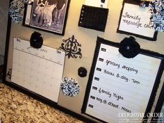 glance page {available FREE for you to print at the bottom of this post.}  I've laminated my page and I write in what I need to do under the days of the week with a dry erase marker. At the beginning of the following week, I simply wipe it off & start again! I have LOVED