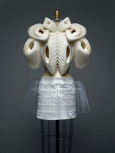 Ensemble, Iris van Herpen (Dutch, born 1984), spring/summer 2010 haute couture.    The Metropolitan Museum of Art, Purchase, Friends of The Costume Institute Gifts, 2015 (2016.16a, b).