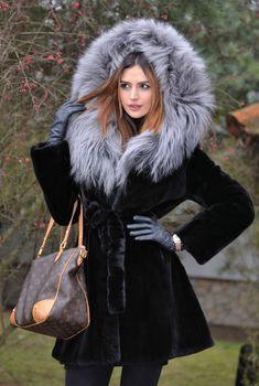 1480d7754eb6 MINK FURS - saga mink fur coat with fox hood - furs outlet Rabbit Fur Coat