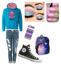 Unicorn It!! by evilangel16 on Polyvore featuring polyvore, fashion, style, Frame Denim and Converse