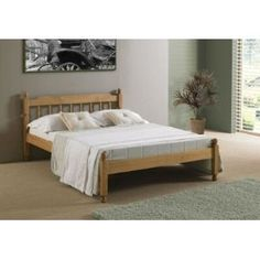 5ft king size solid pine wooden bed bedstead honey pine made from high quality