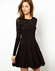 French Connection Bella Burn Out Skater Dress - Christmas party dress