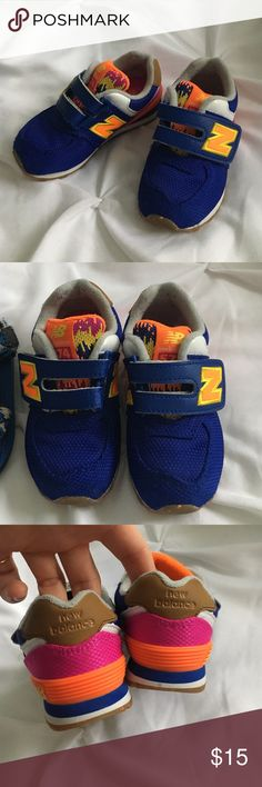 New Balance toddler kicks! Upper cute toddler kicks - Velcro worn a handful of times. Good condition! New Balance Shoes Athletic Shoes