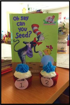Seuss Preschool Activities for Read Across America Week. Read about more ideas and crafts to celebrate reading in elementary school. Kindergarten Centers, Teaching Kindergarten, Teaching Strategies, Teaching Tips, Craft Activities For Kids, Classroom Activities, Dr Seuss Day, Dr Suess, Reading Themes