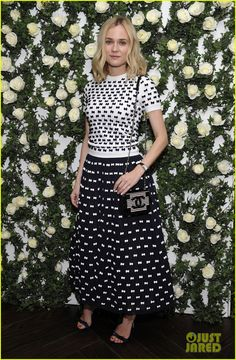 #dianekruger in CHANEL at the W Magazine's Pre-Golden Globes Luncheon in LA
