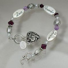 """Engraved Love Remember Forever Bracelet Abernook. $30.00. FREE Engraving. Personalize your Sympathy Bracelet with any initial. (ie. S). Bracelet fits a wrist up to 7 3/4"""".. Poem Card. Include initial in gift note section of checkout.. Remember a loved one with love, forever with our Engraved Memorial Bracelet. This attractive bracelet keepsake keeps your loved ones close to your heart each and every day. A thoughtful sympathy gift which looks great and is beautifully engraved..."""