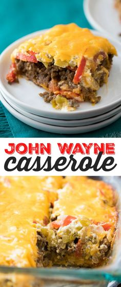 John Wayne Casserole Recipe - This meaty, cheesy c…