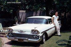 '58 Impala 1958 Chevy Impala, 1950s Car, Impalas, Oldsmobile Cutlass, Convertible, Chevrolet, Automobile, Trucks, Bike
