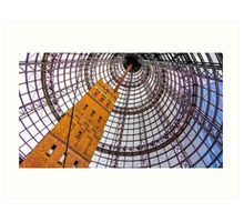Circular Metal at Melbourne Central - Melbourne, Victoria Art Print