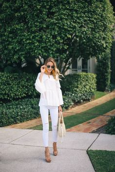 Little Blonde Book A Fashion Blog by Taylor Morgan: White on White