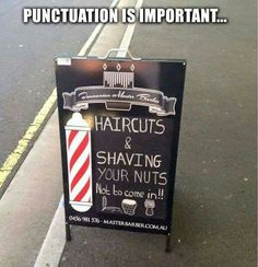 Remember to punctuate