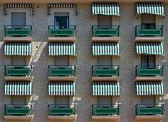Windows-balconies, in Lido di Camaiore, Italy, by Carlo Cafferini