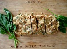 Paleo Chicken Basil Meatloaf