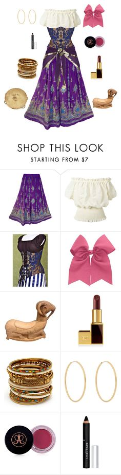 """""""Esmeralda-The Hunchback of Notre Dame"""" by conquistadorofsorts ❤ liked on Polyvore featuring H.I.P., Tom Ford, Amrita Singh, Loren Stewart, Anastasia Beverly Hills and Givenchy"""