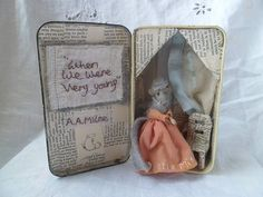 Vintage  Art Assemblage Tin   Little Miss by MesssieJessie on Etsy, £24.50