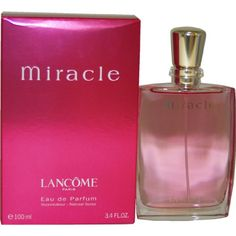 Miracle By Lancome For Women. Eau De Parfum Spray 3.4 Ounces http://amzn.to/JGQSK5