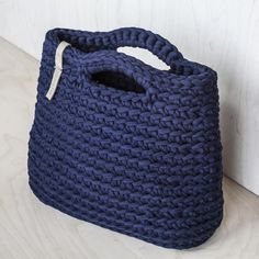 Bolso azul marino diaria minimalista / bolso de las señoras