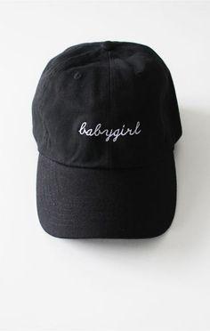 Description Details  Black six panel cap with  babygirl  embroidery  amp   adjustable 1cccf6f6b8ce