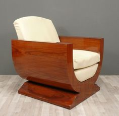 i have chosen this chair because of its different shapes; the curved pice of wood iis what makes this chair look unique and unusual.