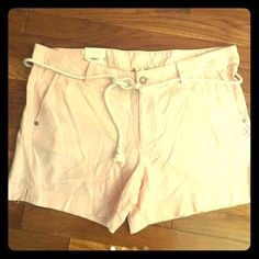 New - 16 Rose/blush linen shorts w/ rope belt. New - 16 Rose/blush linen shorts w/ rope belt. Sonoma Shorts Skorts