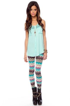 Go Crazy Leggings :: tobi Crazy Leggings, Cute Outfits With Leggings, Cute Leggings, Awesome Leggings, Dance Leggings, Tribal Leggings, Print Leggings, Cute Fashion, Teen Fashion
