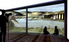 Beeld van een woning gemaakt door de elementen. Onder de duin, met een prachtig uitzicht over de duinrellen, incl vogels en natuur. In Baix Emporda regio, Girona Spanje. # Inge Vleemingh