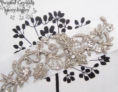 Rhinestone jeweled wedding sash