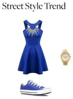 """""""not the heely type"""" by nicola-882 ❤ liked on Polyvore featuring Converse, Michael Kors and Alexis Bittar"""