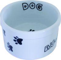 Comedouro em porcelana decorada motivo DOG e CAT. Tamanho 11,5cm diamentro por 6,5cm altura