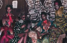 Maria Borges,Aamito Lagum,Tami Williams,Ajak Deng,Kayla Scott,Amilna Estevao & Ysaunny Brito in Squad Goals photographed by Steven Klein and Styled by Edward Enninful for W Magazine