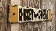 Distressed Rustic Wood Sign - Another! Vintage Wood Signs, Rustic Wood Signs, Wooden Signs, Chicken Signs, Distressed Signs, Lake Havasu City, Pallet Furniture, Wood Blocks, Farm Life