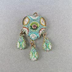 Vintage Micro Mosaic Pendant Italian Jewelry Vintage Jewellery Vintage Pendant Antiques Collectibles on Etsy, $97.71
