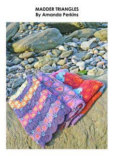 MADDER TRIANGLES Crochet Book - crochet blanket by Amanda Perkins