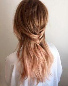 Warm peachy copper balayage by Melissa Lee