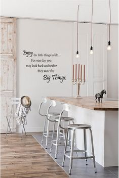 """Enjoy the Little Things in Life (Big Things) - Vinyl Wall Art Decal for Home or Living Room - Inspirational Quote - 22.75"""" W x 17"""" H"""
