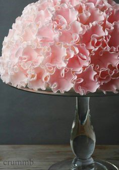 Pink ruffled cake.  I think I just tinkled a little.