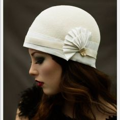 Scala Felt Cloche Never worn. Bought for a party and never used it. It's simply stunning. I love the vintage Gatsby vibe. Scala Accessories Hats