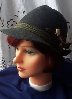 Vintage Bavarian Anton Pichler Hat by DoiliesLaceCrafts on Etsy Anton, All Things, Braids, Buy And Sell, Hats, Handmade, Stuff To Buy, Vintage, Fashion