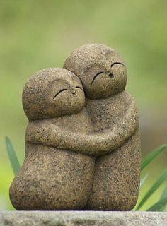 Japan Collection Healing Ksitigarbha / made of Granite / JIZO 地蔵 / H 20 cm