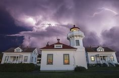 #Lightning pic of the day! #Mulkiteo - #Lighthouse in #Snohomish County, #Washington  By 500 px user: Paul