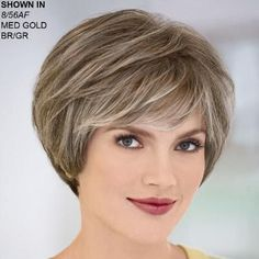 Yvonne WhisperLite® Wig by Paula Young® - Short Hair Styles Short Wedge Hairstyles, Short Layered Haircuts, Haircuts For Fine Hair, Cute Hairstyles For Short Hair, Wig Hairstyles, Curly Hair Styles, Hair Styles For Women Over 50, Short Hair Cuts For Women, Short Hair Wigs