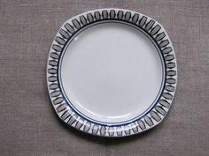 Scandinavian Vintage Plate Gefle Sweden Salad by OLaLaVintage