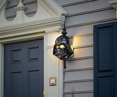 Take your porch light to the Dark Side with a Darth Vader or Stormtrooper cover. The heads fit over front door installations and then go all aglow when dusk hits and it's time to beckon friends, strangers, small children, and every bug in the ne