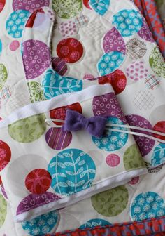 Baby Girl Quilt Gift Set by kissandapeck on Etsy