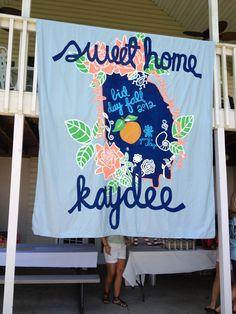 Bid Day banner for Kappa Delta! Kappa Delta Sorority, Delta Phi Epsilon, Alpha Xi Delta, Sorority Gifts, Delta Gamma, Bid Day Themes, Delta Girl, Banner, Georgia College