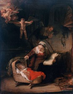 """""""Holy Family"""", 1628, Rembrandt."""