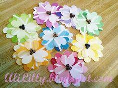 Paint chip diy handmade flowers #paintchip #flowers