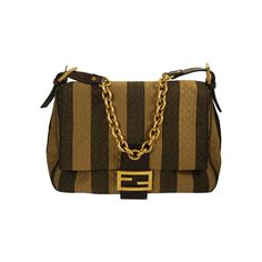 Fendi Quilted Handbag with Leather Accents   From a collection of rare vintage handbags and purses at http://www.1stdibs.com/fashion/accessories/handbags-purses/